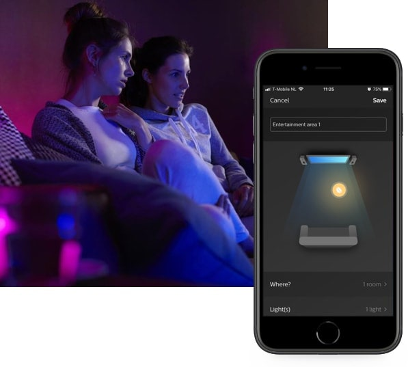 Intensify your movies, music and games with the Philips Hue